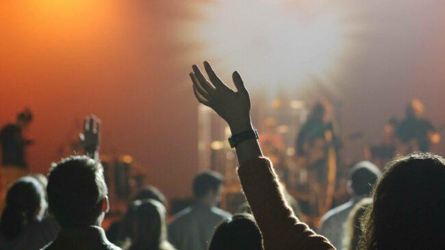 Public de concert en festival